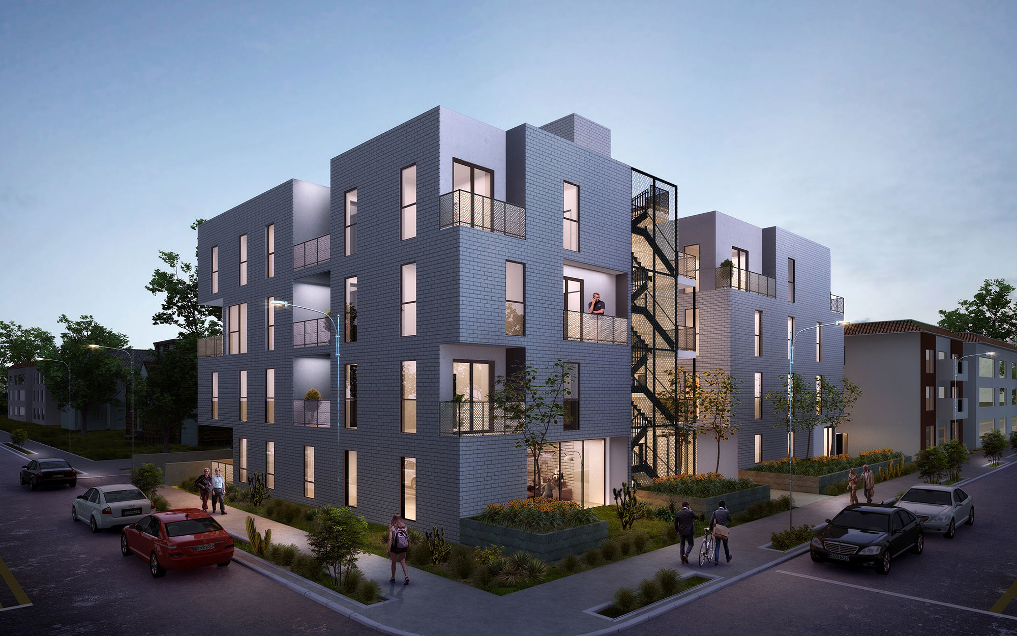 apartments architecture rendering west los angeles