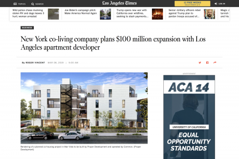 Matteson featured in Los Angeles Times
