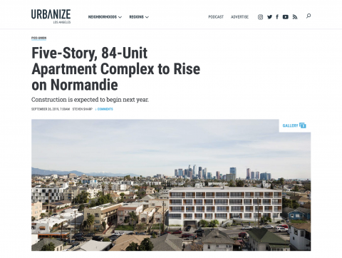 Normandie Featured on Urbanize LA
