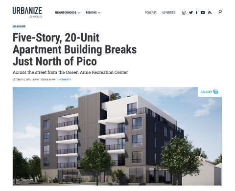 West Featured on Urbanize LA