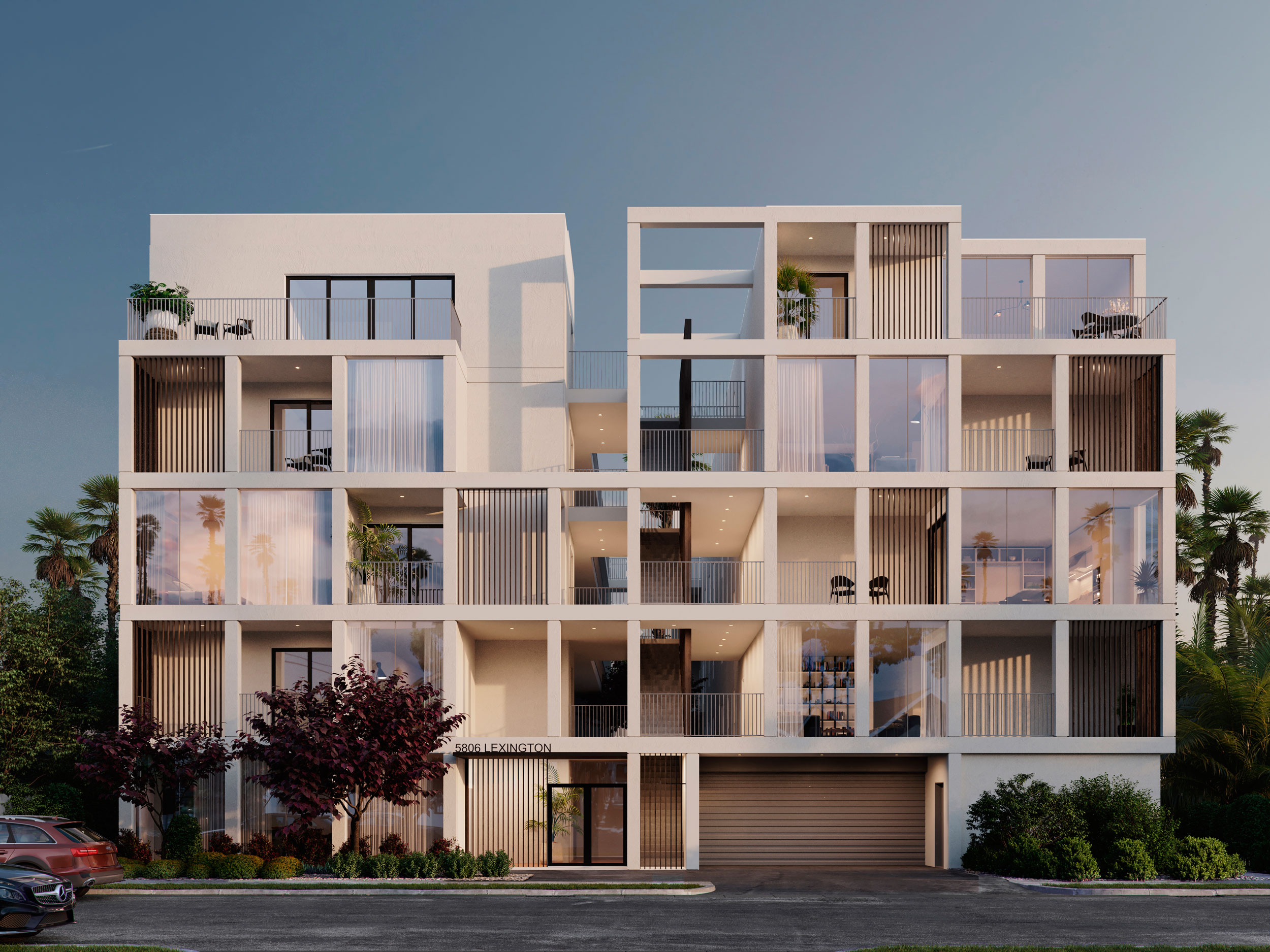 hollywood lexington apartments architecture rendering