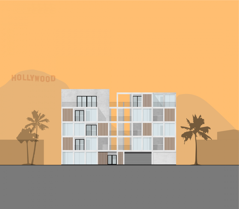 architecture rendering hollywood apartment