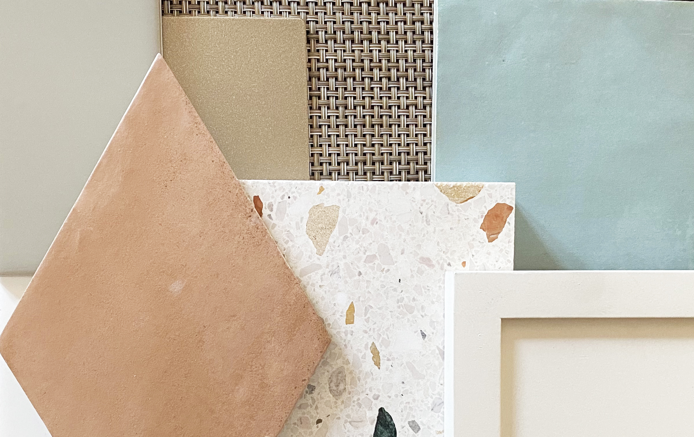 interior design material mood board tiles