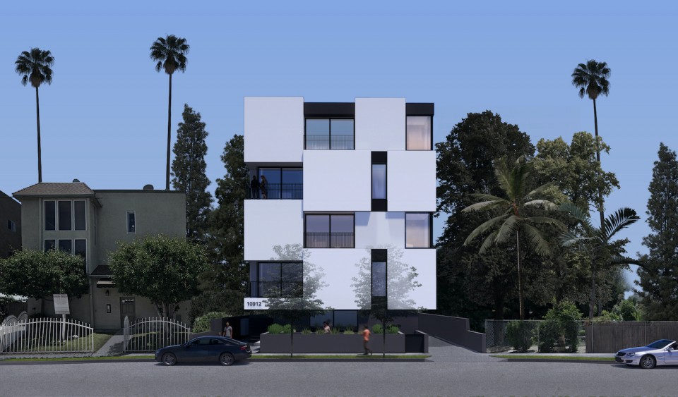 blix north hollywood apartment building front view