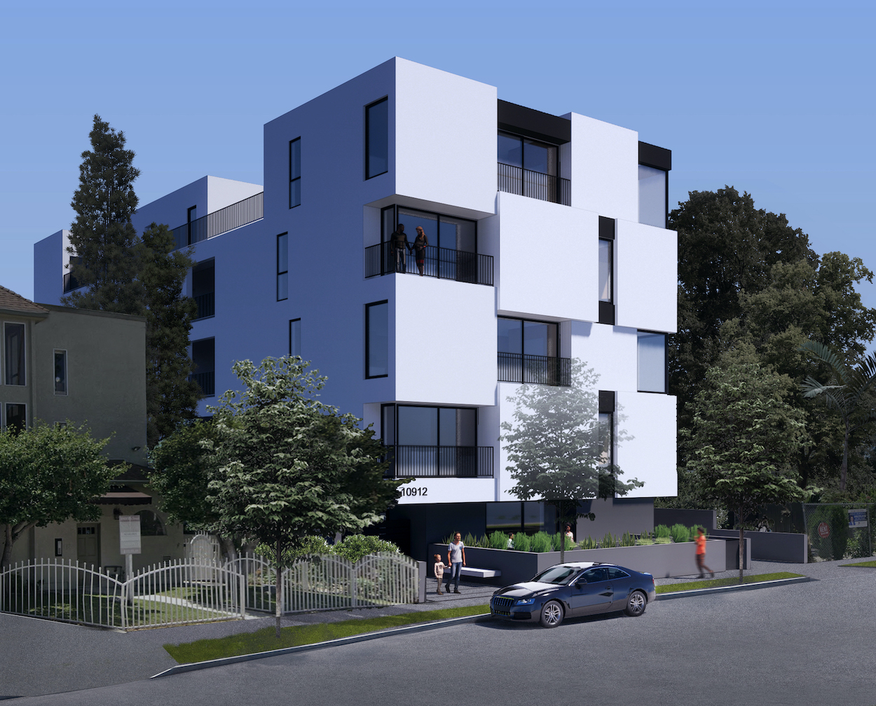 blix north hollywood apartment building architecture left view