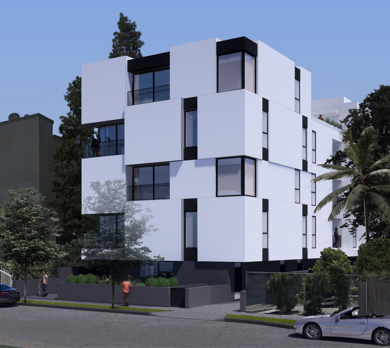 blix north hollywood apartment building right view